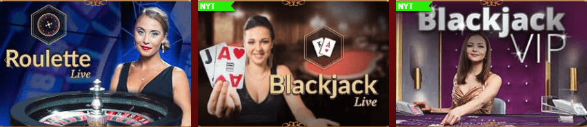 Dansk777 har også live blackjack og roulette