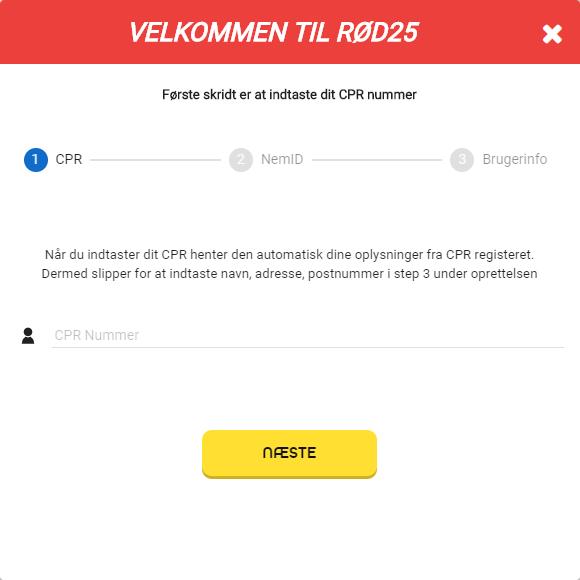 Sådan oprettet du nemt en bruger hos Rød25 med vores gyldige bonuskode